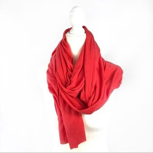 Accessories - Orange / coral jersey long scarf NWT